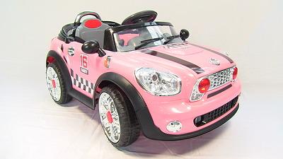 mini cooper electric kids ride on car pink 1